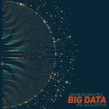 Big data visualization. Futuristic infographic. Information aesthetic design. Visual data complexity. Complex data threads graphic visualization. Social Royalty Free Stock Photo