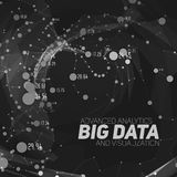 Big data visualization. Futuristic infographic. Information aesthetic design. Visual data complexity. Complex data threads graphic visualization. Social Royalty Free Stock Photos
