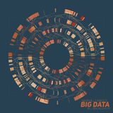 Big data visualization. Futuristic infographic. Information aesthetic design. Visual data complexity. Complex data threads graphic visualization. Social Stock Photo