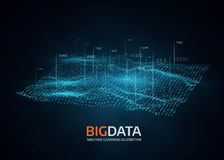 Big data visualization. Futuristic vector background. Intricate data threads graphic. Social network or business analytics representation Stock Photo