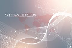 Big data visualization. Graphic abstract background communication. Perspective backdrop visualization. Analytical. Network visualization. Vector illustration stock illustration