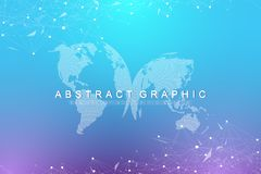 Big data visualization. Graphic abstract background communication. Perspective backdrop. Minimal array. Digital data. Visualization. Representing the global royalty free illustration