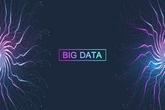 Big data visualization. Graphic abstract background communication. Perspective backdrop visualization. Analytical. Network visualization. Vector illustration vector illustration