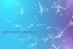 Big data visualization. Graphic abstract background communication. Perspective backdrop visualization. Analytical. Network visualization. Vector illustration Royalty Free Illustration
