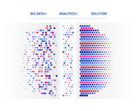 Big data visualization. Information analytics concept. Abstract stream information. Filtering machine algorithms. Sorting binary c Royalty Free Stock Photos