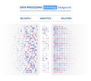 Big data visualization. Information analytics concept. Abstract stream information. Filtering machine algorithms. Stock Photos