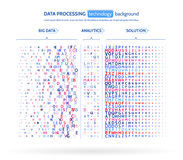 Big data visualization. Information analytics concept. Abstract stream information. Filtering machine algorithms. Royalty Free Stock Photo