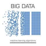 Big data visualization vector background. Stock Images