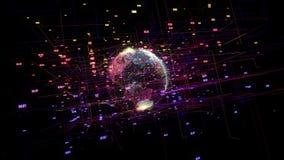 Big data visualization motion background.
