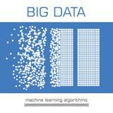 Big data visualization vector background. Stock Image