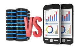 Big Data VS Small Data Royalty Free Stock Photography