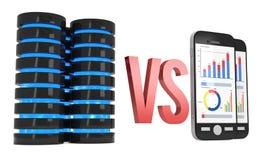 Big Data VS Small Data Royalty Free Stock Photos