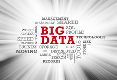 Big data word cloud Royalty Free Stock Images