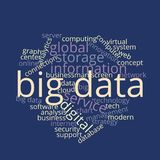 Big Data Word Cloud Infographic royalty free stock photo