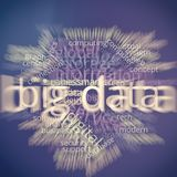 Big Data Word Cloud Infographic royalty free stock images