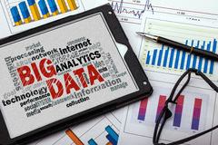 Big data word cloud. With related tags royalty free stock photo