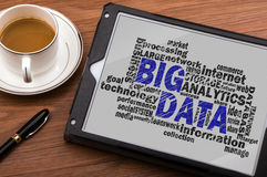 Big data word cloud. With related tags Stock Photos