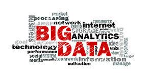 Big data word cloud Stock Photo