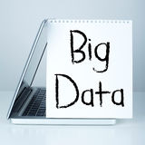 Big Data. Word in laptop royalty free stock photography