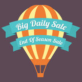 Big Day Sale Hot Air Balloon Stock Photos