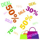 Big deal big sale Bags shopping chart colorful icon and pink banner with text trusty shop. Symbol illustration for trusty online shopping with banner can edit royalty free illustration