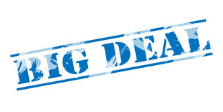 Big deal blue stamp Stock Photography
