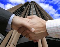 Big deal in a business area. Lefthanded deal in a business area Stock Image