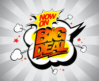 Big deal pop-art design, fast and fiery with comic style speech bubble Royalty Free Stock Images