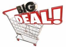 Big Deal Savings Sale Shopping Cart Words Stock Photo