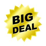 Big Deal Sign. Web button - internet design Stock Image