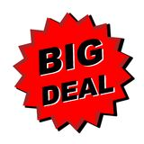 Big Deal Sign. Web button - internet design Royalty Free Stock Photography