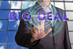 Big deal text with businessman royalty free stock photo