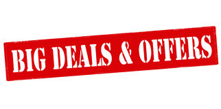 Big deals and offers Stock Photography