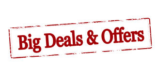 Big deals and offers Royalty Free Stock Photography
