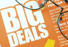 Big deals sign Royalty Free Stock Photos