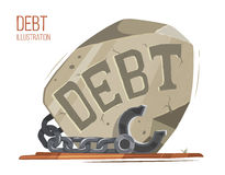 Big debt stone Stock Photos