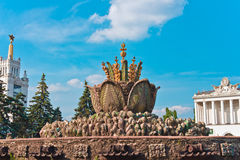 Big decorative fountain. In VVC, Moscow, Russia, East Europe royalty free stock image