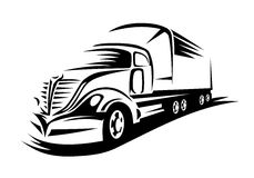 Big delivery truck Stock Photography