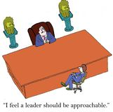 Big desk leader Stock Images