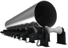 Big-diameter pipe Stock Photos