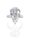 Big diamond ring. Big pear shape diamond ring Royalty Free Stock Image