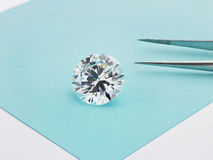 Big Diamond on Tiffany Blue Background Royalty Free Stock Photos