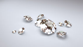 Big Diamonds on a Grey Background Royalty Free Stock Photo