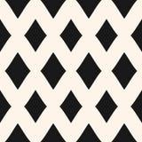 Big diamonds seamless pattern. Vector rhombuses geometric texture. Diamonds seamless pattern. Vector rhombuses geometric texture. Simple abstract monochrome Royalty Free Stock Photo