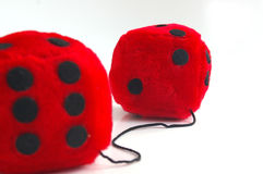 Big dice. Fuzzy dice stock photography