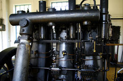 Big diesel engine from 1930 still working Stock Photo