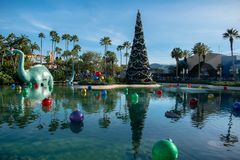 Free Big Dinosaur , Christmas Tree And Holidays Decorations In Echo Lake At Hollywood Studios 26. Stock Image - 166685991