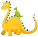 Big dinosaur and small dinosaur Royalty Free Stock Photography