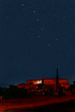 Big Dipper constellation. Over a countryside scene stock photos