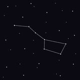 Big Dipper constellation in night sky. Ursa Major Royalty Free Stock Images